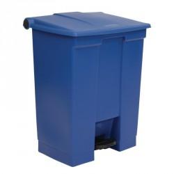 Conteneur à pédale Rubbermaid bleu 68L