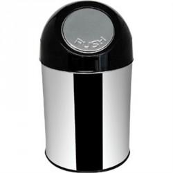 Poubelle 26 litres ronde inox à couvercle battant