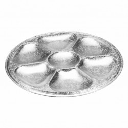 Assiette aluminium pour 6 huitres 50 pièces