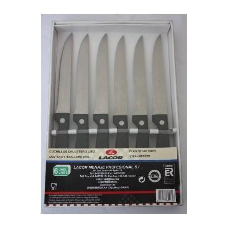 6 couteaux steak de 21 cm dentelé