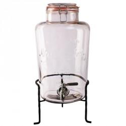 'Distributeur d''eau rétro en verre avec socle Olympia 8.5L '