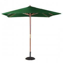 Parasol carré vert à poulie Bolero 2,5m