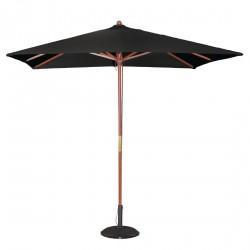 Parasol carré noir à poulie Bolero 2,5m