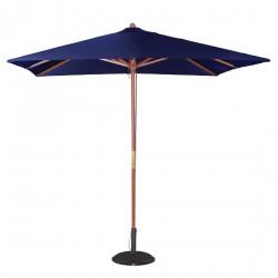 Parasol carré bleu marine à poulie Bolero 2,5m
