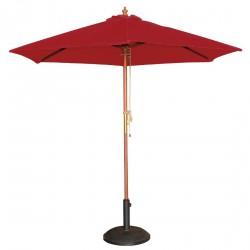Parasol rond à poulie rouge Bolero 2,5m