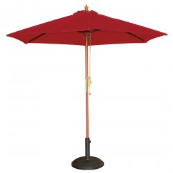 Parasol rond à poulie rouge Bolero 3m