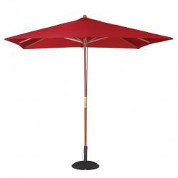 Parasol carré à poulie rouge Bolero 2,5m