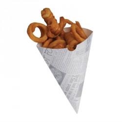 Cornet à frites en papier jetable