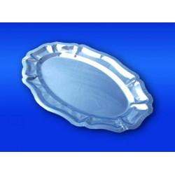 Plateau alu rigide ovale 40 x 29 cm