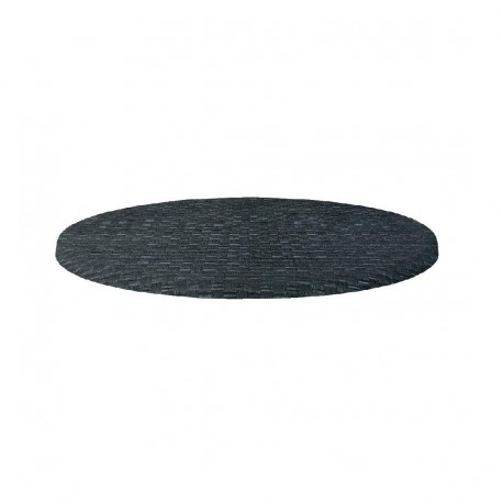 plateau de table rond rotin anthracite 800mm werzalit. Black Bedroom Furniture Sets. Home Design Ideas