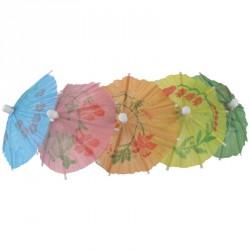 Parasols en papier différentes couleurs (boite de 144)